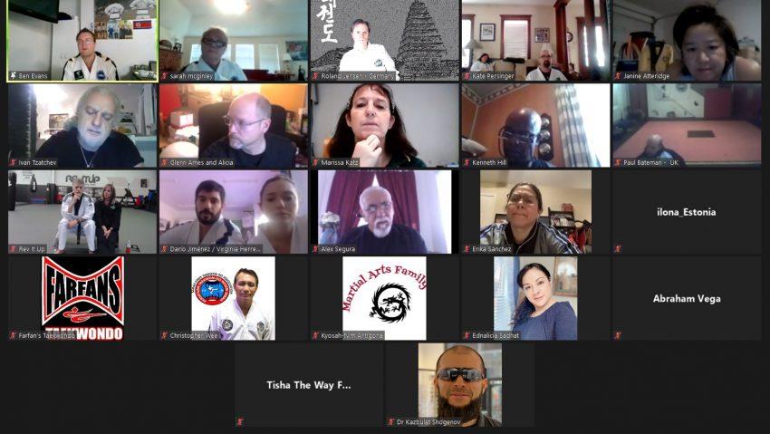Videokonferenz zum Thema Taekwon-Do für Menschen mit Behinderungen.
