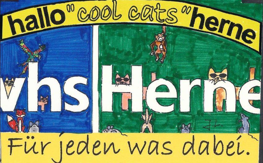 Die cool cats schreiben sich in der VHS ein.