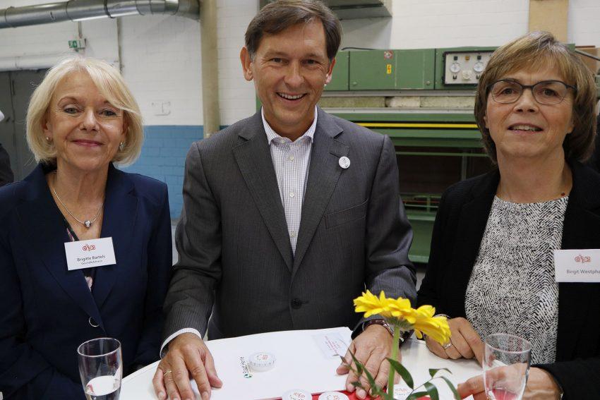 30 Jahre GBH. v.l. Brigitte Bartels, Dr. Frank Dudda, Birgit Westphal.