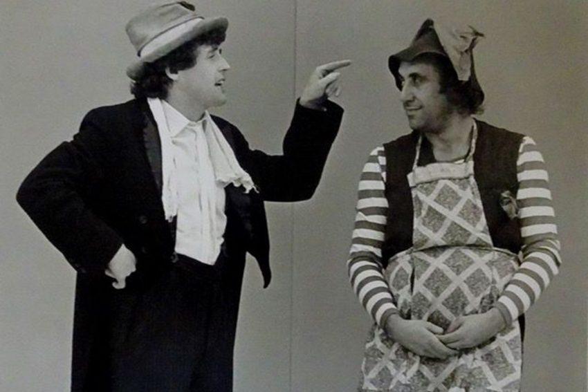 Paco und Willi in dem Stück: Rotkäppchen.