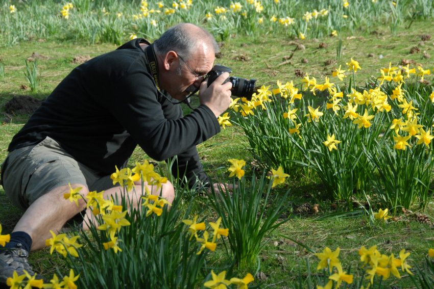 Wolfgang Quickels: Fotografieren, egal in welcher Position und wie lange es dauert.
