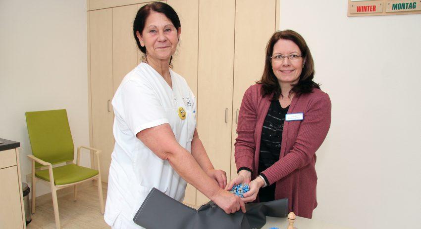 Betreuungsassistentin Claudia Bode und Uta Peiffert (Fachberatung Pflege).