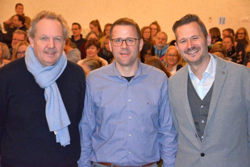 Informierten zum Thema Mobbing: Dr. Rüdiger Haas, Carsten Osterkamp und Dr. Christian Zoll.
