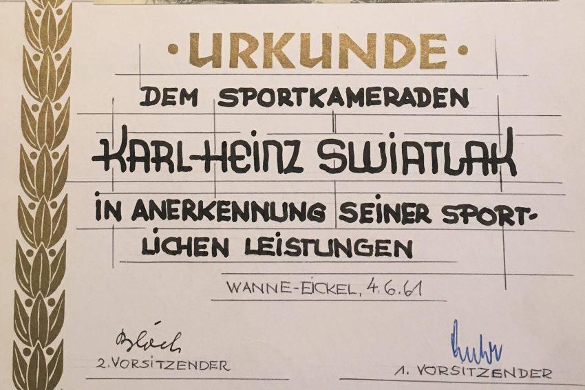 Karl-Heinz Swiatlak - ein Leben für den Sport.