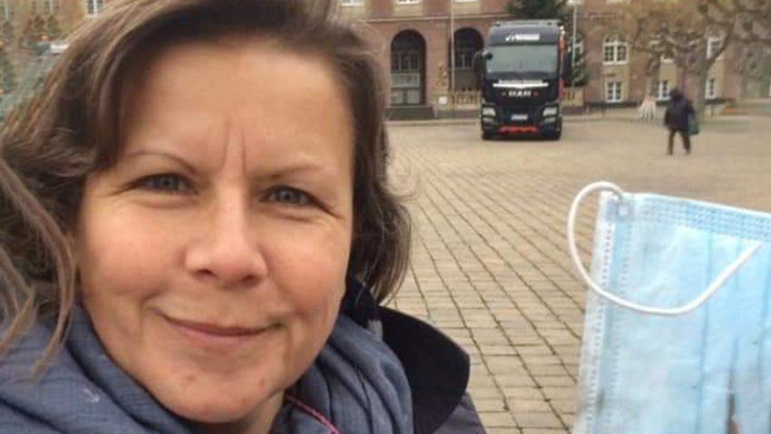 Masken-Sammel-Challenge #novembermasken und #wintermasken von den City Cleaners Germany um Initiatorin Birgit Schad.