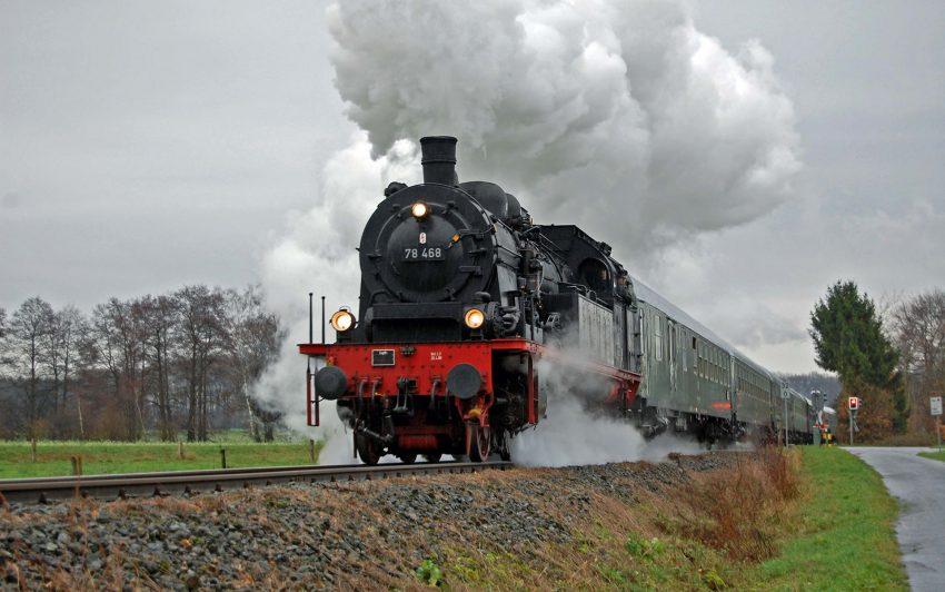 Der Museumszug der Eisenbahnfreunde Witten.