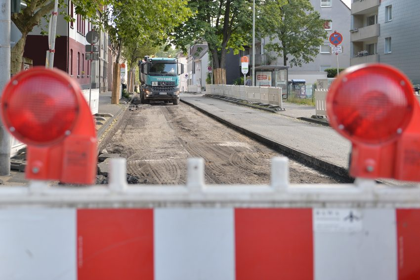 Baustelle Rotbruchstraße.