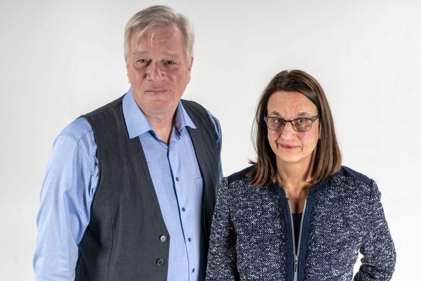 v.l. Rainer Bodenschatz, Beate Tschöke vom Ehrenamtsbüro..