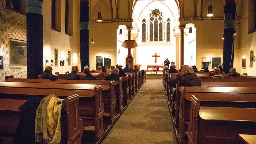 Die Vernissage in der Christuskirche.