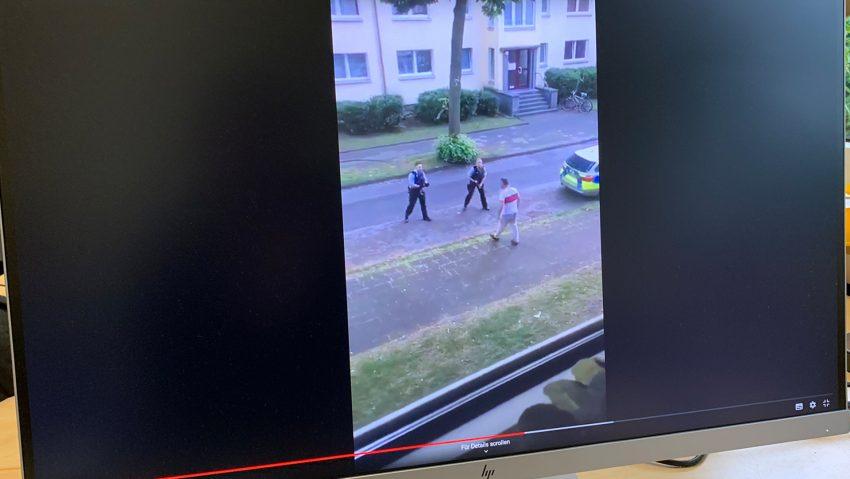 Video vom Polizeieinsatz in der Wanner Lindenstraße.