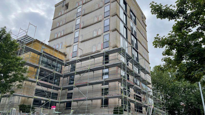 Baustelle vom we-house, der Sodinger Hochbunker, am Mittwoch (23.6.2021).