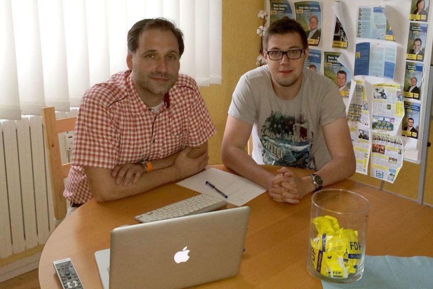 v.l.: Thomas Bloch und Manuel Konopczynski.