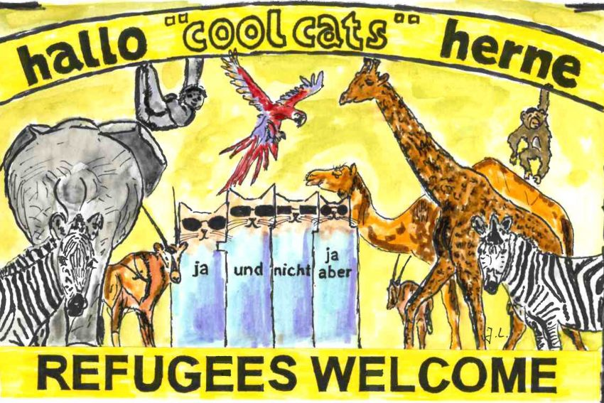 Die Coolcats zum Thema: Flüchtlinge.
