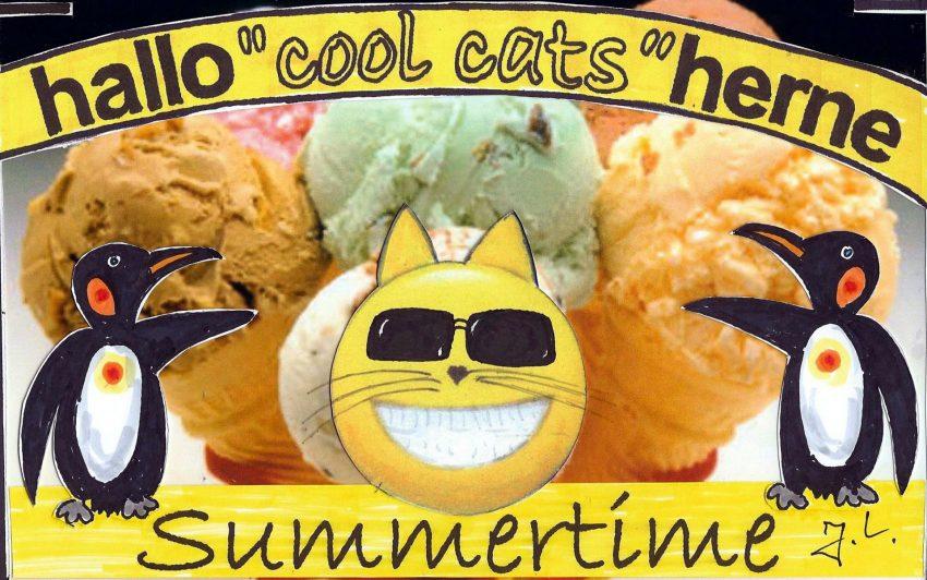 Den cool cats ist heiß.