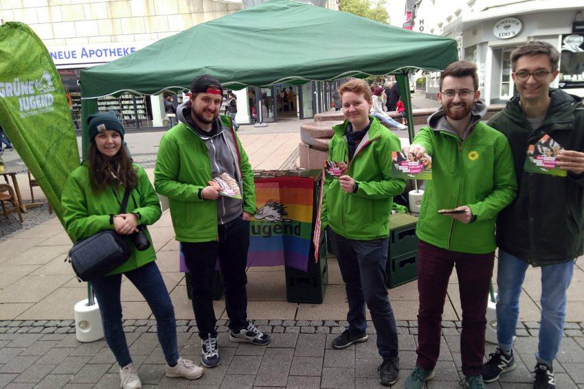 Vertreter der Grünen Jugend NRW in Herne.