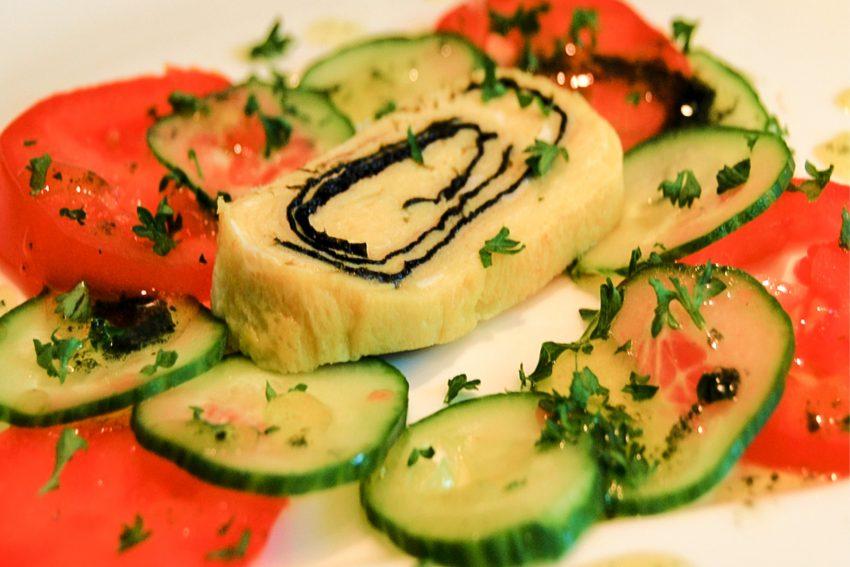 Eine kulinarische Algen-Kreation.