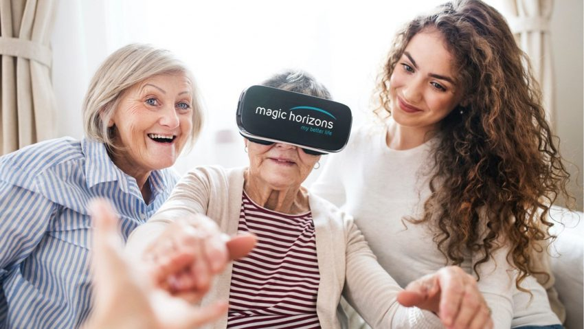 """Um die Förderung Demenzerkrankter durch Simulation geht es auch beim Ansatz der Nutzung von """"Virtual Reality""""-Brillen."""