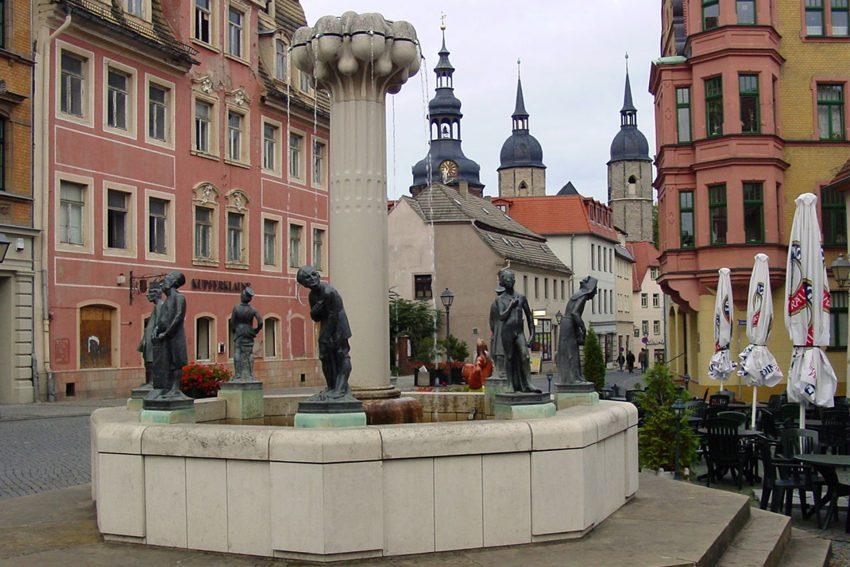 Knappenbrunnen in Eisleben.
