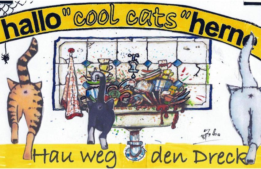 Frühjahrs-Dreck-Weg-Woche mit den Cool Cats.