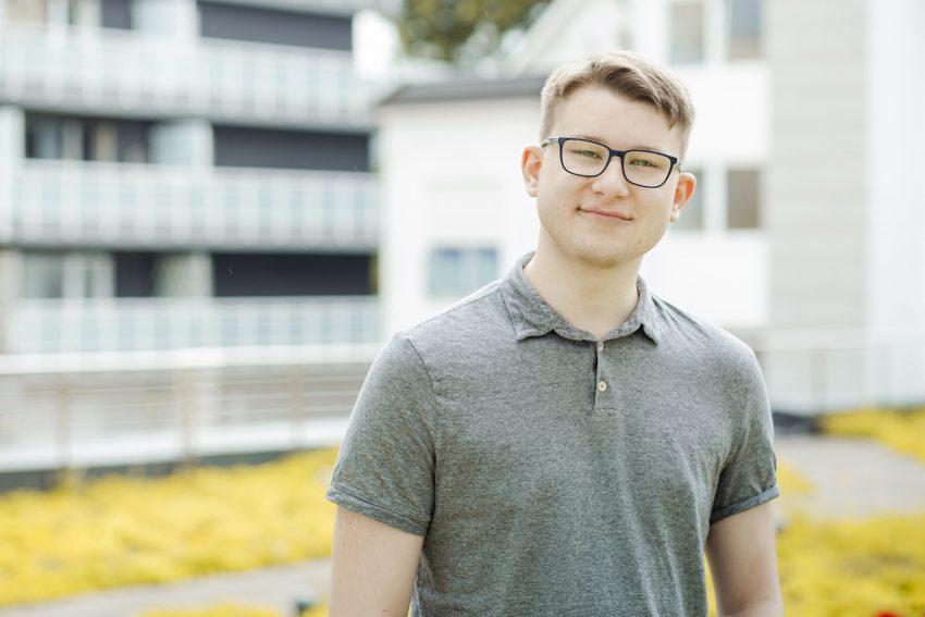 Justus Lichau, Stadtverordneter der Grünen im Rat. (August 2021)