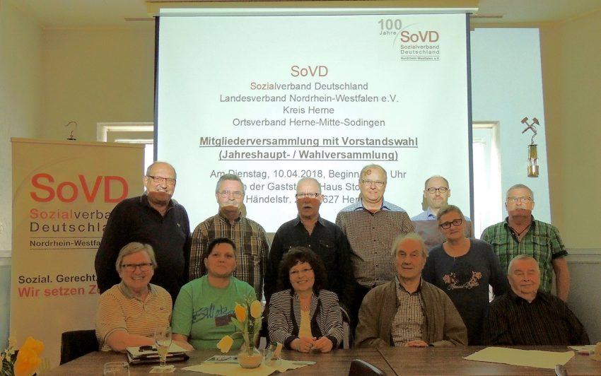 Der SoVD Vorstand 2018.