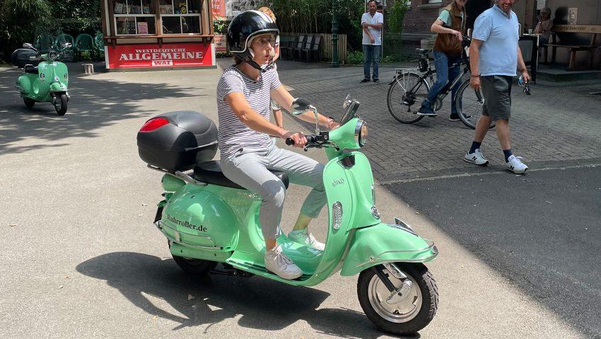 Neue Stadtrundfahrten von Ruhrroller und vom Stadtmarketing Herne, Astrid Jordan testet.