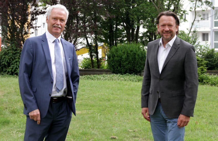Die Vorstände des Evangelischen Verbundes Ruhr, Heinz-Werner Bitter (l.) und Jens Koch, blicken nach zehn erfolgreichen Jahren optimistisch in die Zukunft.