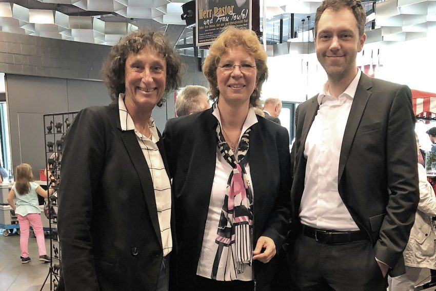 Barbara Merten (CDU-Stadtverordnete), Fraktionsvorsitzende Bettina Szelag und Benjamin Majert (CDU-Stadtverordneter).