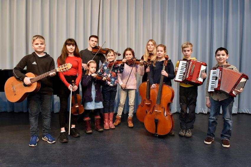 Die jungen Musikanten.