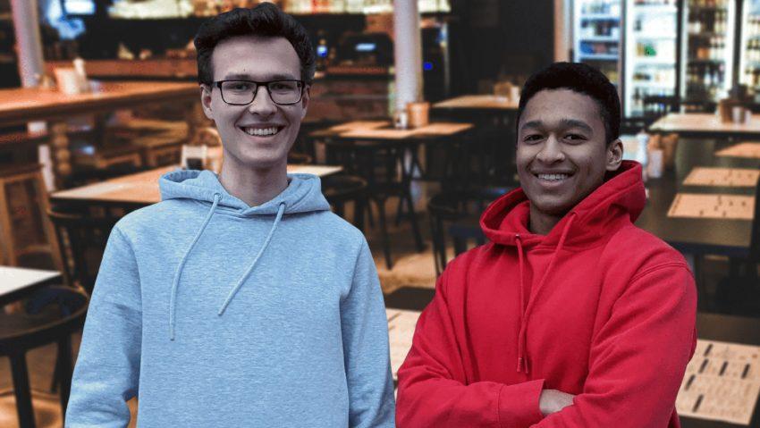Die Gründer von Lokal-Essen.com: (v.li.) Tobias Klein und Amir Ben Balde.