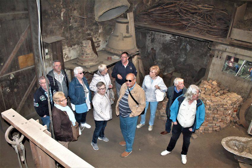 Mitglieder des Sozialverband Deutschland (SoVD) im Glockengießer-Museum.