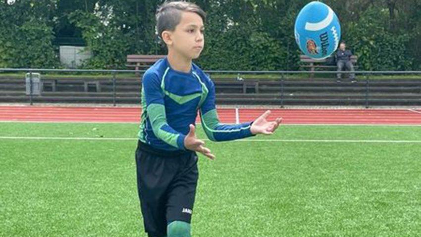 Jugendtraining der Black Barons Footballer.