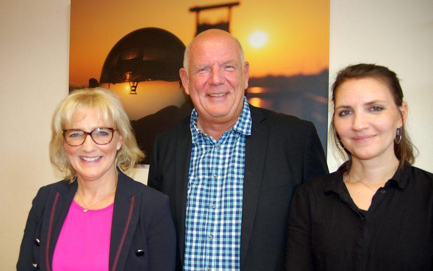 v.l. Nicole Nowak, Thomas Nückel, Vera Mindt.