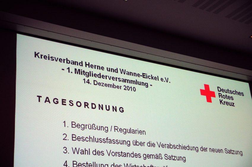 Tagesordnung der 1. Mitgliederversammlung des neuen gemeinsamen KV Herne und Wanne-Eickel e.V.