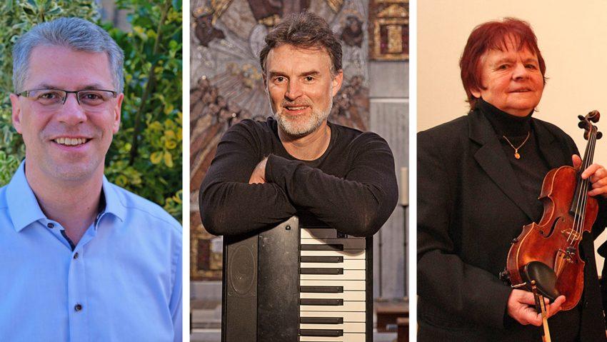 Beim Orgeltag Westfalen dabei: (v.li.) Dr. Siegbert Gatawis, Wolfgang Flunkert und Gisela Röbbelen.