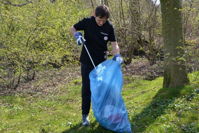 Auftaktveranstaltung der Müllsammel-Aktion in Herne.