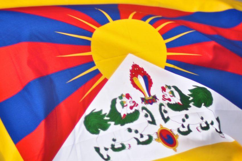 Tibet-Flagge.