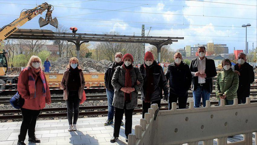 Die SPD Ortsgruppe besuchte den Herner Bahnhof.
