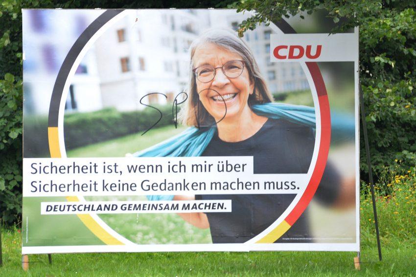 Wahlplakate zur Bundestagswahl 2021.