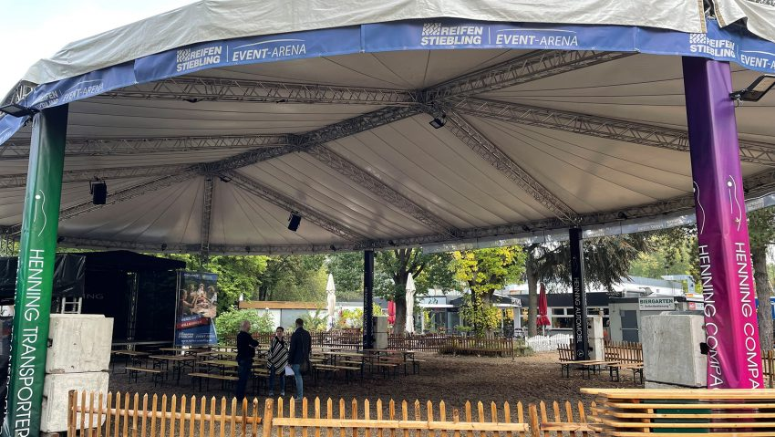 Die Reifen Stiebling Event-Arena am Gysenberg.