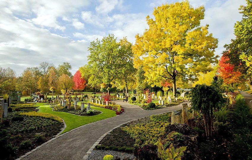Der Memoriam-Garten auf dem Südfriedhof.