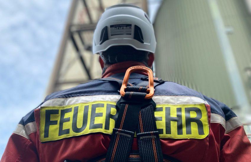 Während derAusbildung wurden Rettungstechniken in Höhen von 60 Metern eingeübt.