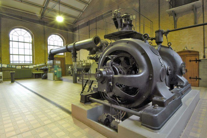 Maschinenhaus des Schiffshebewerks.