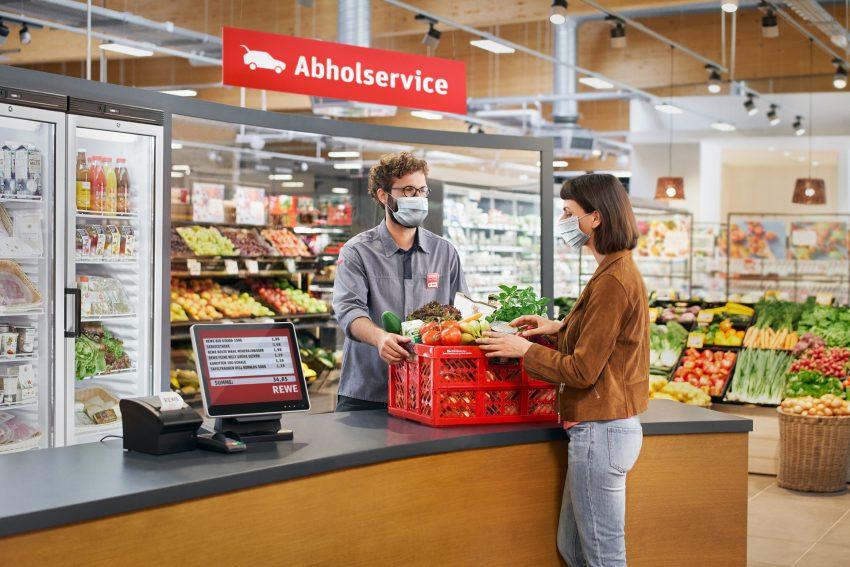 REWE Markt Mokanski an der Dorstener Straße 283 startet seinen Abholservice. 27.4.2021