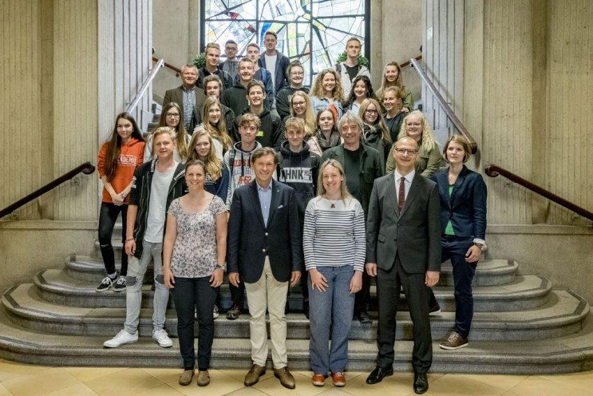 OB Dudda empfängt Schülergruppe aus Prag.