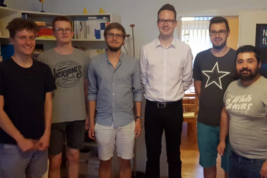 v.l. Philipp Löhler, Jan Krawiec, Henric Janning, Max Wiemers, Manuel Wagner, Asaad Chneker.