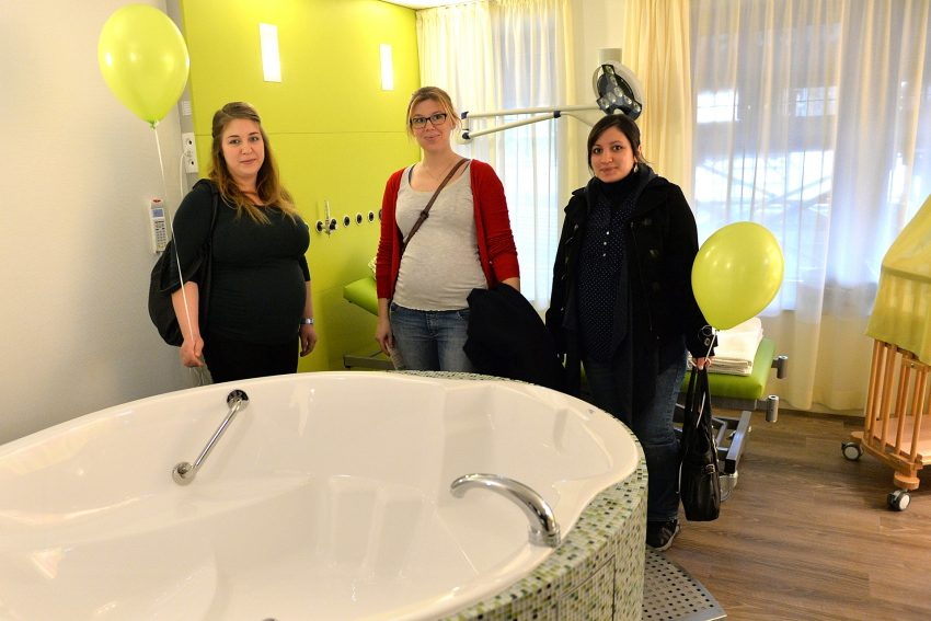 Eröffnung der neuen Kreißsäle, Marien Hospital Herne, am 17.2.2017.