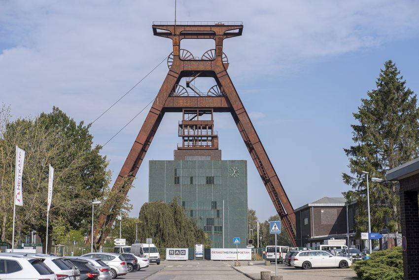 Vorstellung der Pläne zum Rückbau der einsturzgefährdeten Schachthalle der Zeche Pluto 2/3/7 in Herne (NW), am Mittwoch (23.09.2020).