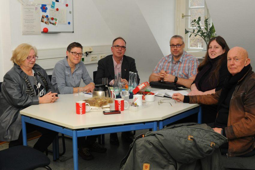 v.l. Irmgad Haggenkötter (CDA), Kirsten Weber, Frank Heu CDA Chef, Olaf Reimann, Anke Kaszemek, Heiner Kranemann, (CDA).