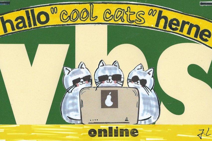 Unsere Cool Cats sind begeistert von der vhs-online.